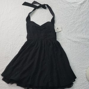 NWT GUESS midi black jeweled back zipper dress 9